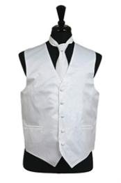 VS1012 Vest Tie Set White