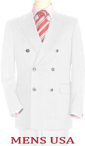 Whe478 High Quality Snow White Double Breasted Blazer Online