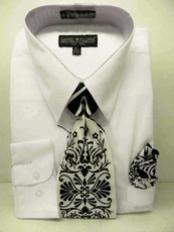 White Dress Shirt Tie Set