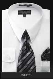 WH7009 Dress Shirt - PREMIUM TIE - White