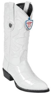 BE7856 Wild West White Eel Cowboy Boots