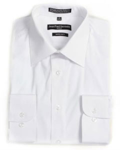 DR-7512 White Convertible Cuff Big & Tall Dress Shirt