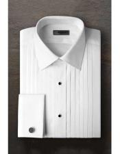 SM1193 Vincent Regular Fit Pleated Slacks Laydown Tuxedo Shirt