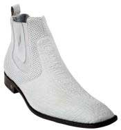 KA6989 White Genuine Shark Dressy Boot