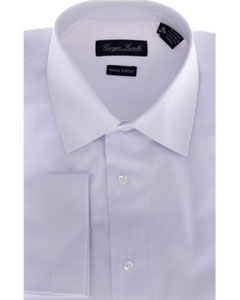 HNF4897 Modern-Fit Dress Shirt Solid White