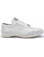 JSM-4375 Mens Belvedere Paulo White Genuine Ostrich / Soft