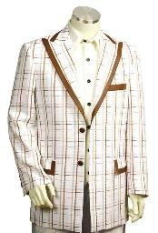 RN8178 Exclusive White Pinstripe Fashion Long length Zoot Suit