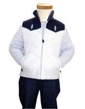 GD1022 G-Gator Mens Genuine Stingray White Zipper Vest