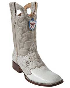PA4431 Wild West White Shark Wild Rodeo Toe Boots