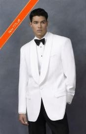 Dinner Jacket in White Shawl