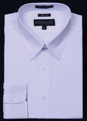 KA5678 Slim narrow Style Fit Dress Shirt - White
