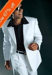 BF4033 White Suit All Year Around 3 Button Style