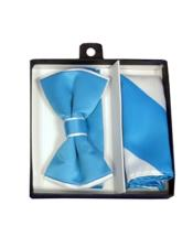 CH1699 Mens Polyester White / Turquoise Satin dual colors