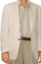 UM9632 White Spring/Summer Two Button Blazer Online Sale