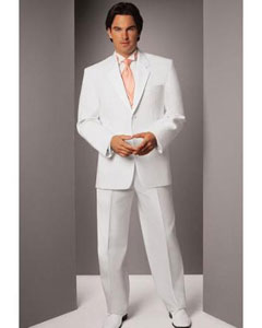 DK775 White Two Button Notch Tuxedo