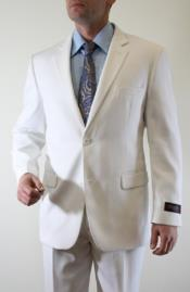 PN_J51 Tazio White Tonal Fine Pinstripe 2 Button Style