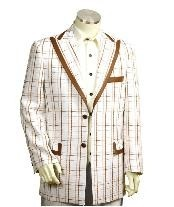 EF5465 Two Button Trimmed Two Tone Blazer Online Sale/Suit/Tuxedo