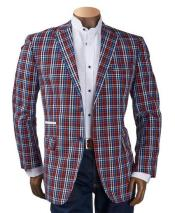 GD1773 Mens Checker ~ Plaid ~ Windowpane Mens Blazer