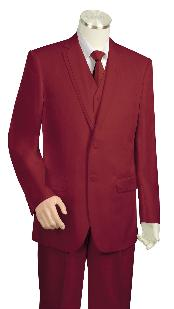 Wine Three Button 1940s mens
