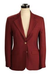 JSM-4181 Womens Belle Fit Wrinkle Resistant Burgundy Blend Hopsack