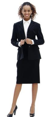 WO-226 Women Dress Set Liquid Jet Black