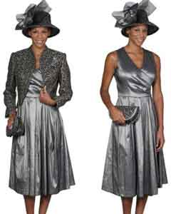 WO-108 Wo Dress Set Grey/Gold