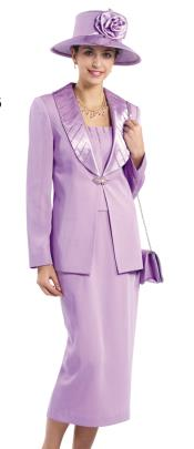 WO-158 Women Dress Set Lavender