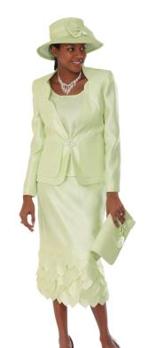 WO-104 Wo 3 Piece Dress Set lime mint