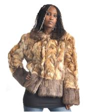 GD839 Fur Natural Genuine Sable Jacket With Beaver Trimming