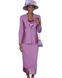 WO-106 Wo 3 Piece Dress Set Violet
