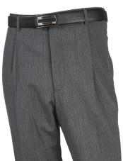 JA320 Mens Wool Flat Front Taupe Pant