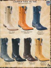 S33S 3X-Toe cai ~ Alligator skin Tail Cowboy Western