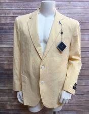 JSM-6630 Mens Yellow ~ Canary 2 buttons blazer ~