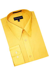 RK590 Gold~Yellow~Mustard Cotton Blend Dress Shirt With Convertible Cuffs