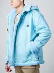 Mens Blue Front Zipper