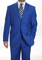 Button Suit royal blue