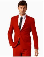 Button Style Suit Pants