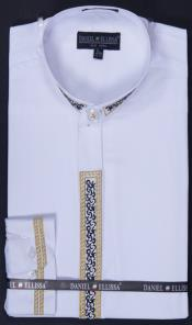 Collar Embroidered dress shirts