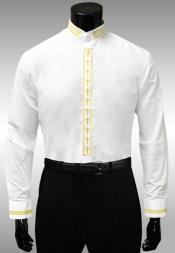 Gold Cross Clergy Collar