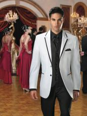 Button Style White Suit