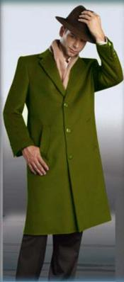 5XZX Olive Green overcoats outerwear 45 Single Breasted 3