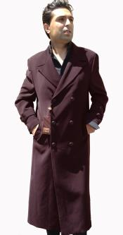 BUG3 Top Coat Full Length overcoats outerwear Double Breasted