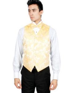 Paisley Print 4-Piece Vest