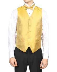 Diamond Print 4-Piece Vest