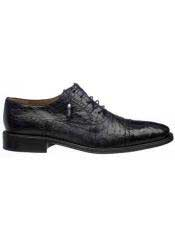 SM722 Ferrini Liquid Jet Black Alligator skin & Ostrich