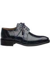 SM721 Ferrini Navy Genuine Full Alligator skin Lace Up