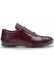 SD117  Belvedere Paulo Genuine Dark Burgundy Ostrich And