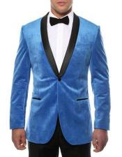 Mens 1 Button Turquoise