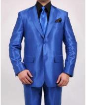 Button Royal Blue Single