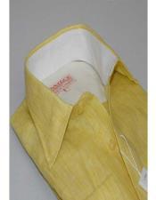 Yellow Inserch Linen Long